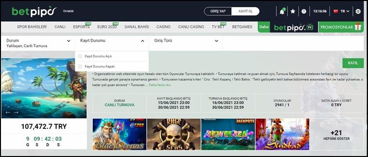 betpipo casino oyunları